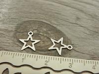 Tähtiriipus, 11x10mm, mattahopea, 1kpl
