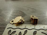 Korvakoruklipsi, 10mm, vaaleakulta, 1pari