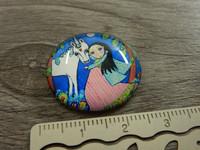 Kapussi tyttö ja yksisarvinen, 25mm, värikäs , 1kpl
