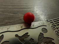 Silikonihelmi, 9mm, punainen, 1kpl