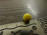 Silikonihelmi, 9mm, keltainen, 1kpl