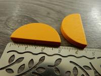 Puoliympyrä puuhelmi, 31x15mm, keltainen, 1kpl