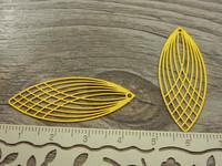 Pisara riipus, 40x16mm, keltainen, 1kpl