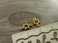 Tähtiriipus/ linkki, 10x6mm, kulta, 1kpl