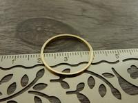 Linkki ympyrä, 20mm, umpi, kulta, 1kpl