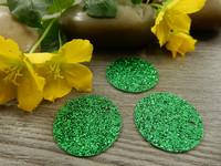 Paljetti/riipus, 20mm, vihreä, 1kpl