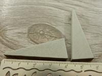 Kartio puuriipus, 40x14mm,vaaleanharmaa, 1kpl