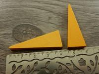 Kartio puuriipus, 40x14mm, vaaleanoranssi, 1kpl