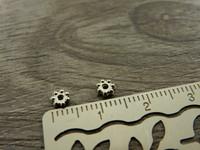 Akryylihelmi välihelmi, 4mm, kromi, 50kpl