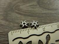 Akryylihelmi välihelmi, 6mm, kromi, 50kpl