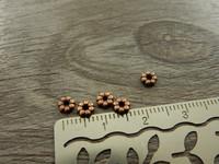 Akryylihelmi välihelmi, 4mm, kupari, 50kpl