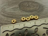 Akryylihelmi välihelmi, 4mm, kulta, 50kpl
