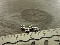 Metallihelmi välihelmi, 3,5mm, kromi, 50kpl