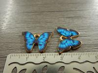 Perhonenriipus, 21x15mm, sininen, 1kpl