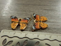Perhonenriipus, 21x15mm, oranssi, 1kpl