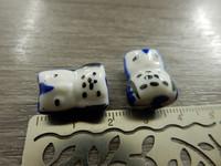 Posliinihelmi pöllö, 17x14mm, sininen, 1kpl