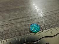 Kapussi glitter, 8mm, turkoosi, 1kpl