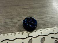 Kapussi rösöpinta, 12mm, tummansininen, 1kpl