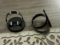 Sormuspohja kapussille, 20mm, musta, 1kpl