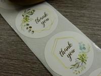 Thank you tarra, 25mm, vihreä kukka, 10kpl