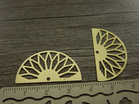 Puoliympyräriipus, 31x17mm, kulta, 1kpl