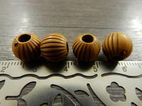 Akryylihelmi raidat, 10mm, ruskea, 20kpl
