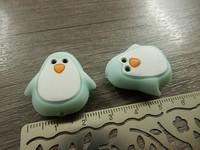 Silikonihelmi pingviini, 26x25mm, minttu, 1kpl