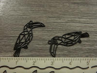 Papukaijariipus, 25x20mm, musta, 1kpl