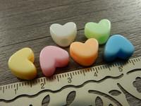 Akryylihelmi sydän, 9x12mm, mix setti , 10kpl