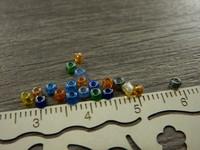 Lasihelmi kirkas, 2mm, mixsetti, n.500kpl