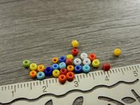 Lasihelmi värikäs, 2mm, mixsetti, n.500kpl