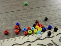 Lasihelmi värikäs, 3mm, mixsetti, n.250kpl