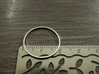 Linkki ympyrä, 20mm, umpi, kirkashopea, 1kpl