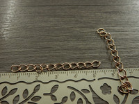 Säätöketju ovaali, 4-5cm, vaaleakulta, 10kpl