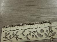 Figaroketju, 2.5x0.5mm, kromi, 1m