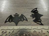 Lepakkoriipus, 27x41mm, musta, 1kpl