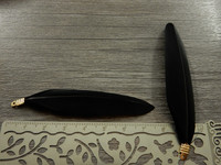 Hanhen sulka/höyhen , n.7cm, musta, 1kpl