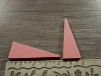 Kartio puuriipus, 40x14mm, vaaleanpunainen, 1kpl