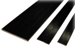 Hiilikuitulatta 1,0 x 3,0 mm (1 m)