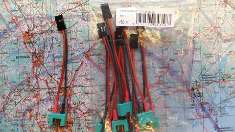 Adapterijohto JR (naaras) / MPX (uros) 50mm (AD43811)