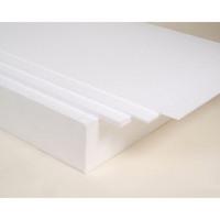 EPP-levy 800 x 600 x 2 mm, 20 g, valkoinen
