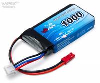 Vapex 1000mAh 7.4V, 25C Lipo (JST) (LP009F)