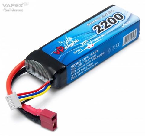 LiPo 2200mAh 3S 11,1V 30C (T-Liitin) (LP020FD)
