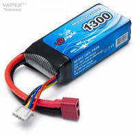 LiPo 1300mAh 3S 11,1V 30C (T-Liitin) (LP014FD)