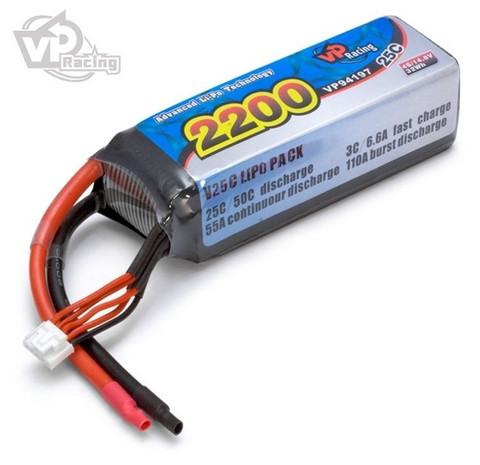 LiPo 2200mAh 4S 14,8V 25C (ei liitintä) (VP94197)