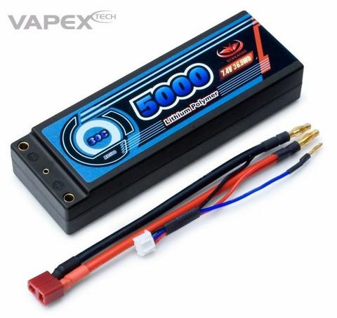 LiPo 5000mAh 2S 7,4V 30C Hardcase (T-liitin) (RD500D2)