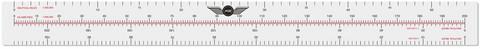 Pitkä navigointiviivoitin 42,5 cm