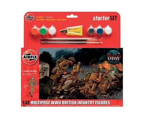 Airfix Multipose WWII British Infantry Figures 1:32 Starter set