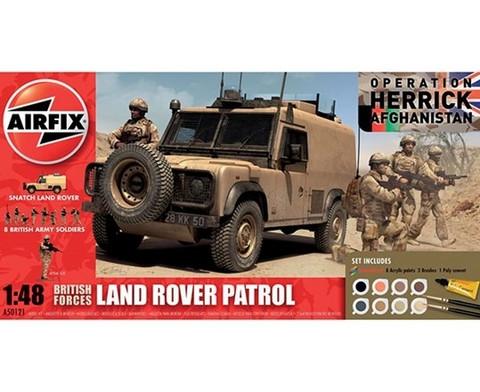Airfix British Forces Land Rover Patrol 1:48 Gift set