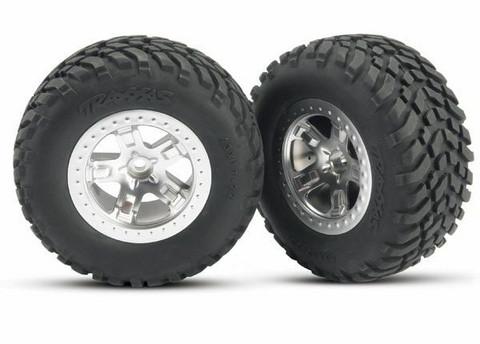 Renkaat vanteilla SCT/SCT 2WD eteen (2kpl) (5875)